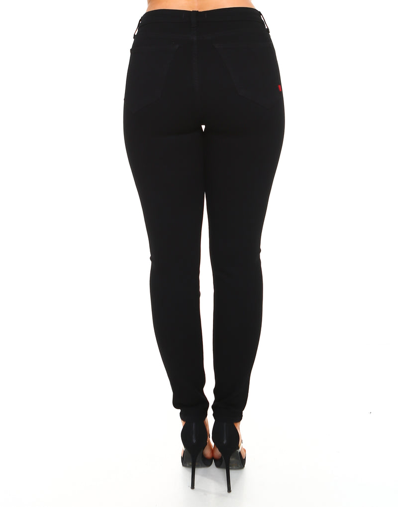 High Waisted Black (Curvy) Skinny Fit-Women - Apparel - Denim - Jeans-Honeyed Boutique