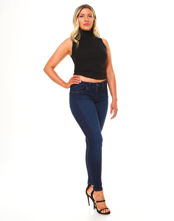 Curvy Slim Fit Jeans-Honeyed Boutique