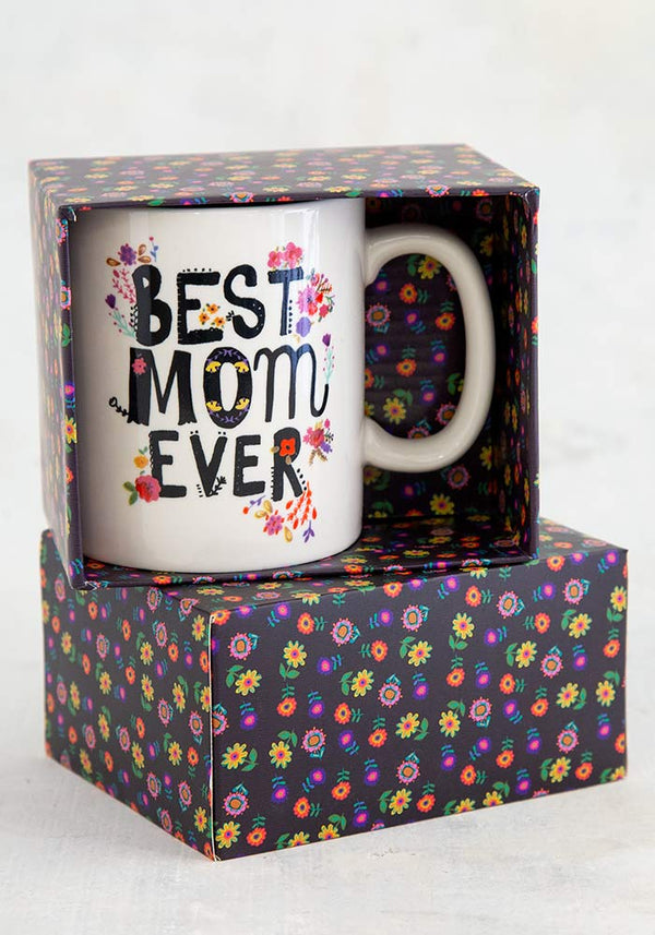 Best Mom Ever Boxed Mug-Honeyed Boutique