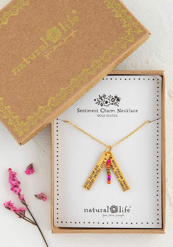 Friends Sentiment Necklace-Honeyed Boutique