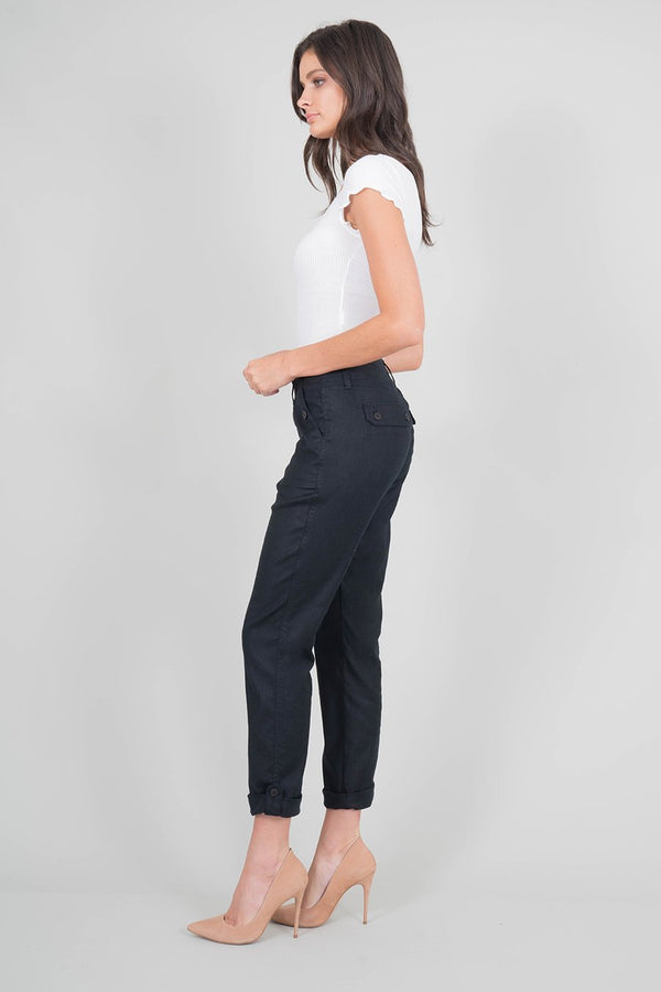 Dayla Black Cargo Pants-Honeyed Boutique