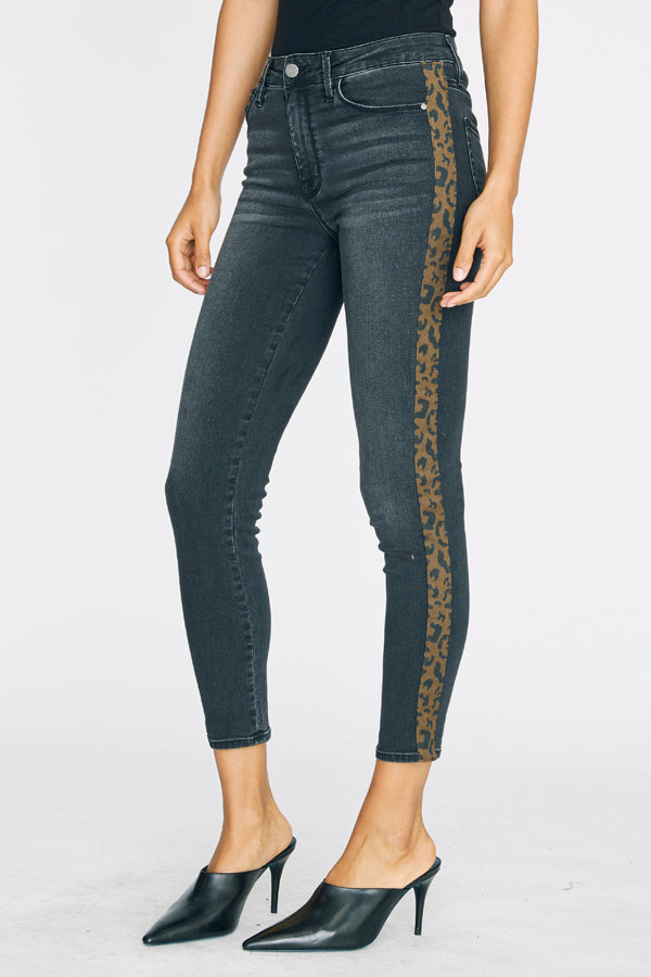 Grey Leopard Tape Denim