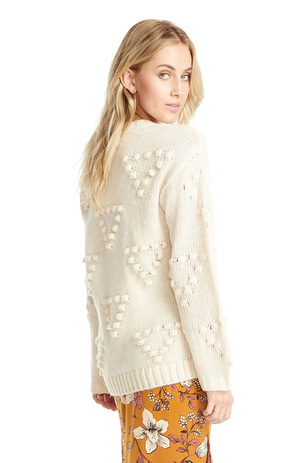 Pop Stitch Cream Sweater