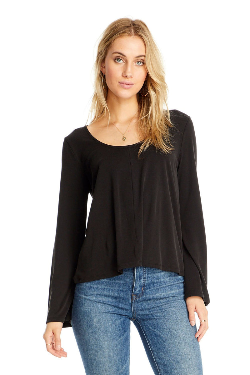 Taylor Scoop Neck Long Sleeve Tee