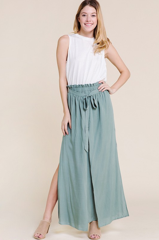 Minty Maxi Skirt-Skirt-Honeyed Boutique