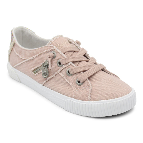 Pink Frayed Sneakers