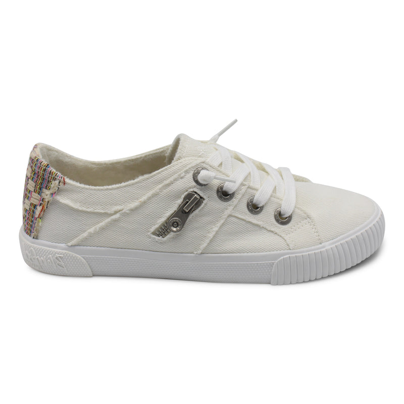 White Frayed Sneakers