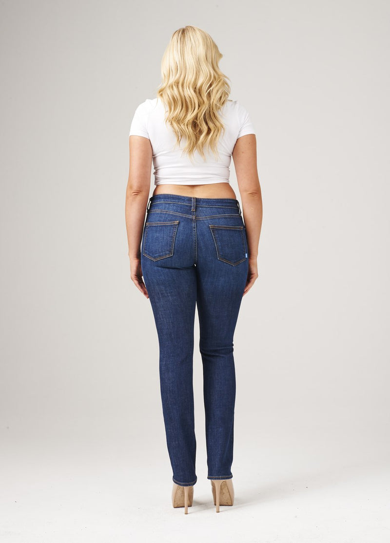 Curvy Straight Jeans-Jeans-Honeyed Boutique