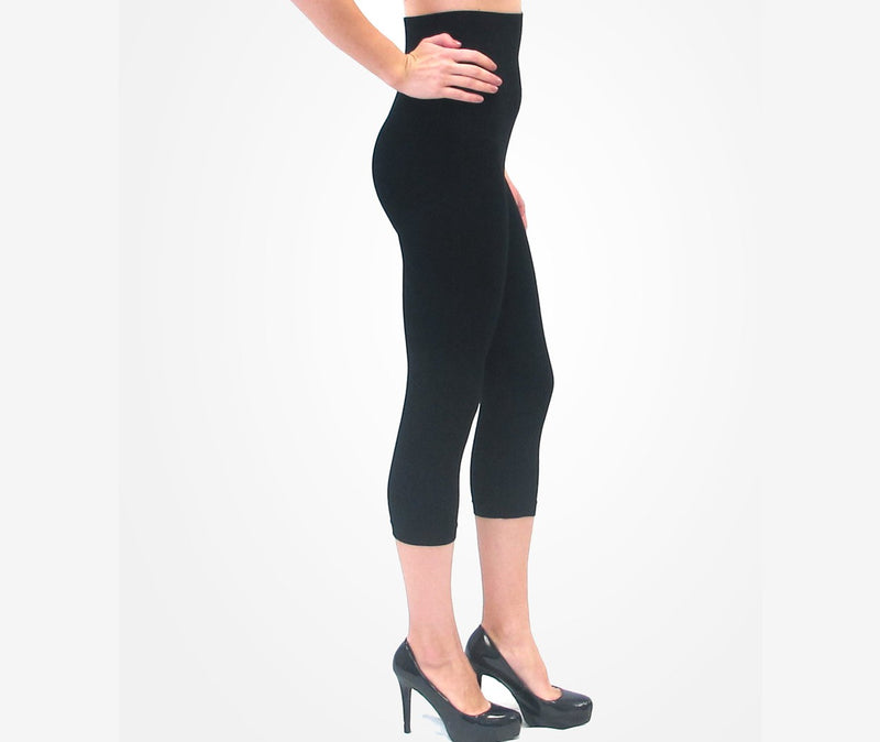 3/4 High-Waist Leggings-Honeyed Boutique