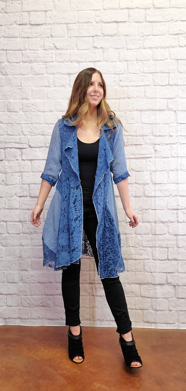 Daisy Denim Lace Jacket