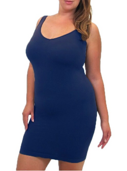 Extended Curvy V-Neck/Scoop Neck Tank Long-Honeyed Boutique