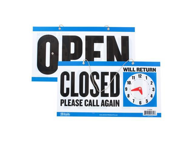 CLOSED/ OPEN Clock Sign