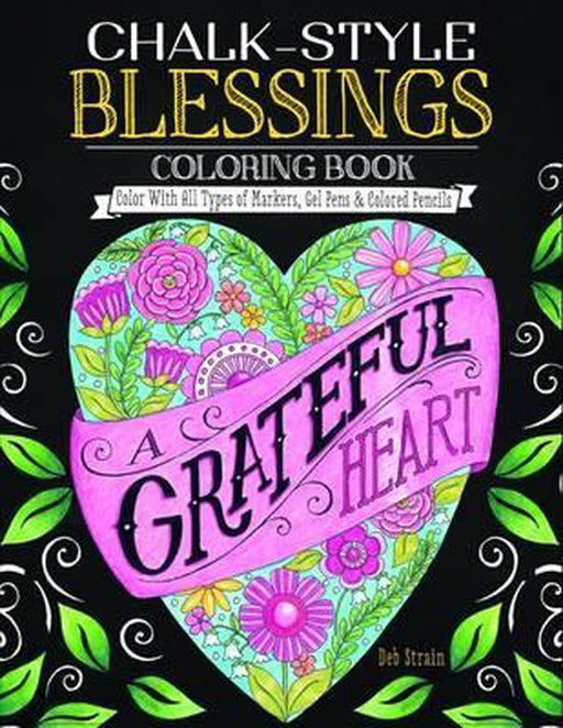 Chalk-Style Blessings Coloring Book