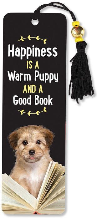 Bookmark Happiness, Puppy, Book