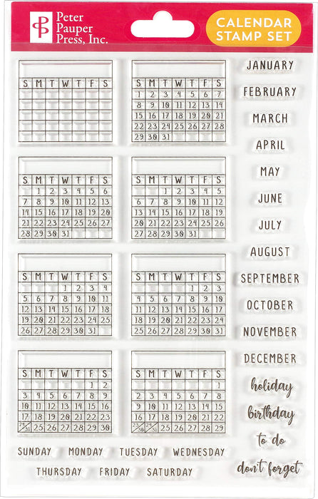 Weekly Planner Clear Stamp Set