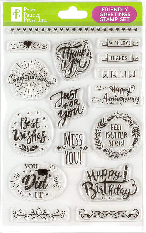 Friendly Greetings Clear Stamp Set