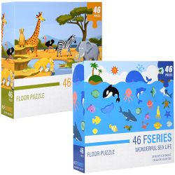 Wonderful Sea Life & Safari Kingdom Floor puzzle