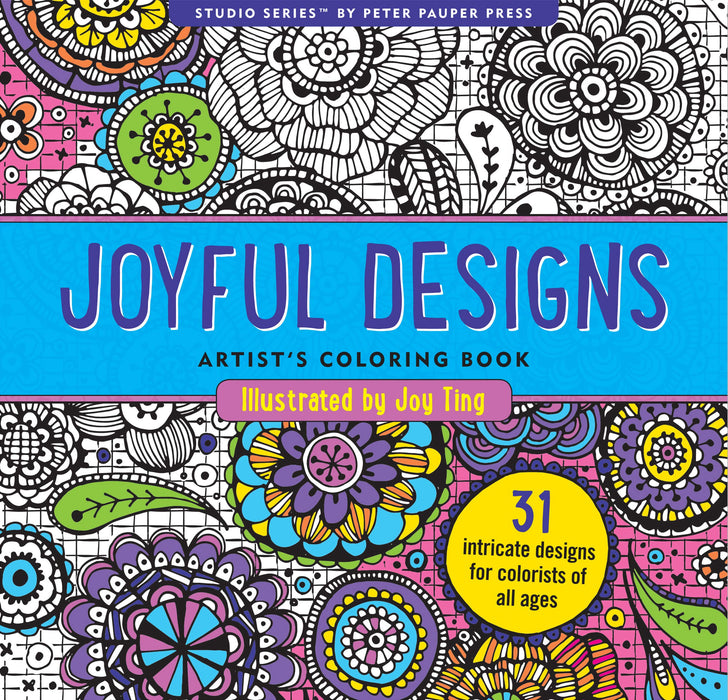 Coloring Book Joyful Designs