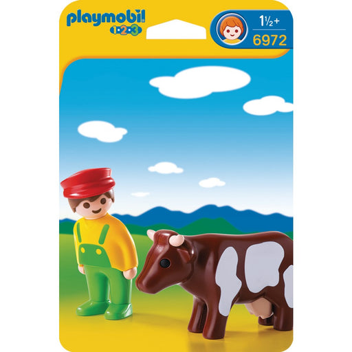 Playmobil 1.2.3. Farmer with Cow