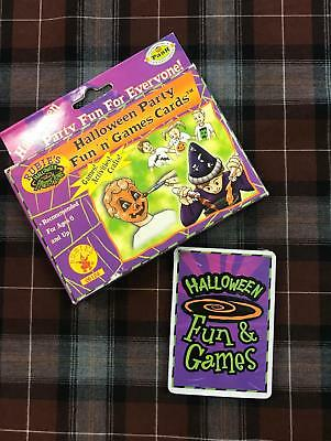 HALLOWEEN PARTY FUN N GAMES CARDS