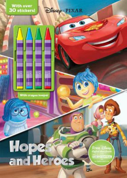 Hopes and Heroes Coloring Book with Crayons
