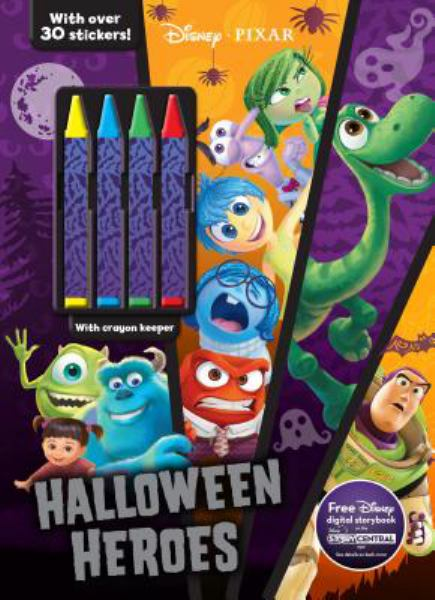 Halloween Heroes Coloring & Activity Book with Crayons