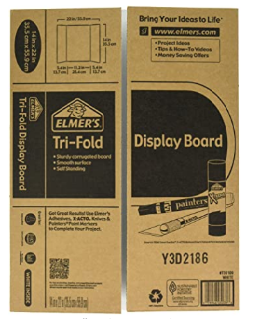 Elmer's Tri- Fold Display Board