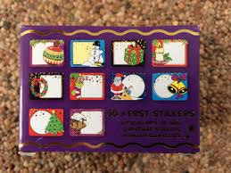 Kerststickers 50/ giftbox