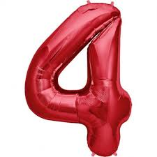 NUMBER 4 BALLOON