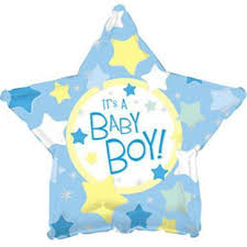 IT'S A BOY STAR BALLOON