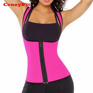 Burning Fat Yoga Top Hot Shaper Front Zipper Women For Running Fitness Workout Gym Sleeveless Female Sport Shirt T-Shirt Clothes