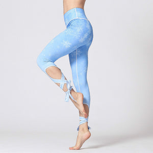 Colorvalue 3D Digital Printed Yoga Leggings Women Flexible High Waist Fitness Sport Capri Pants Plus Size Jogging Tights S-XL