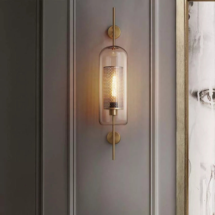MILANA Clear Glass Shade Sconces