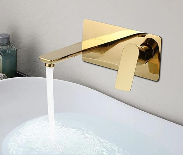 Wall Mounted Solid Brass Faucet