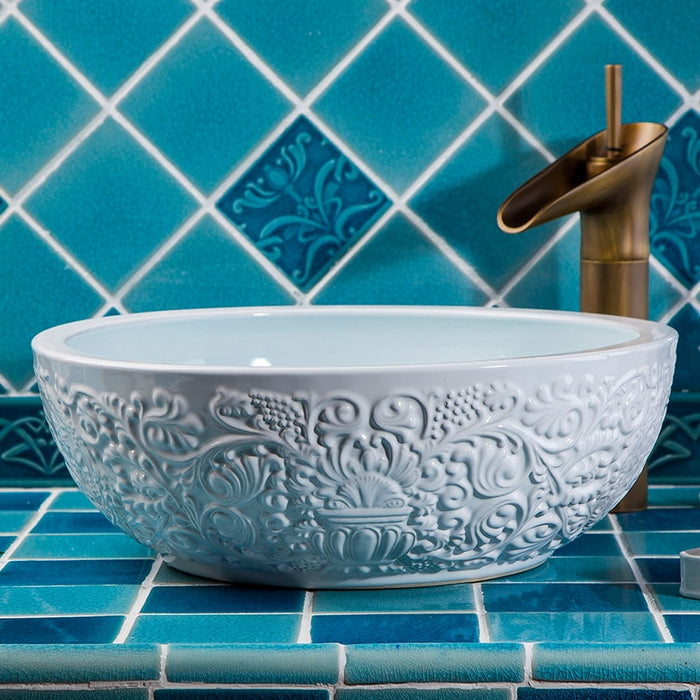 Ceramic Art Basin Sinks Counter Top