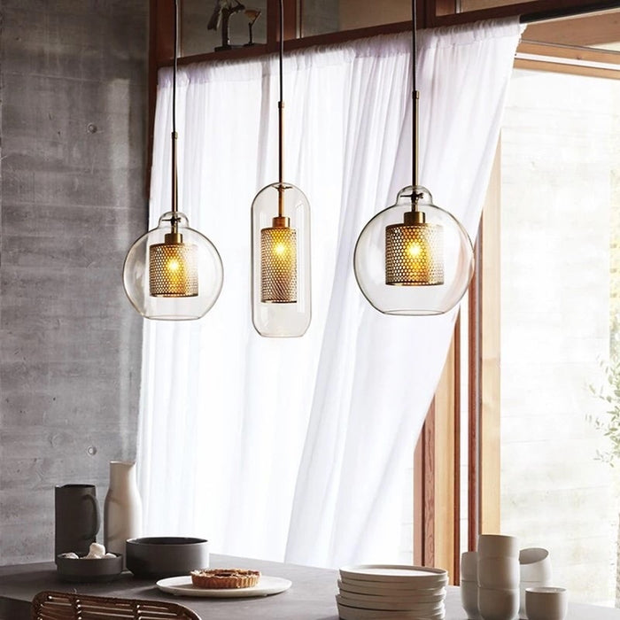 MILANA Clear Glass Pendant Light