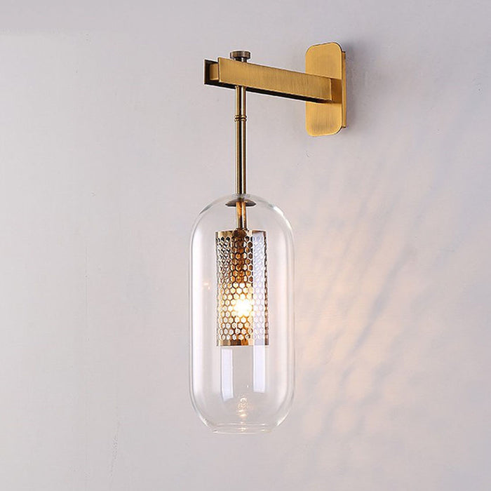 MILANA Clear Glass Wall Lamp