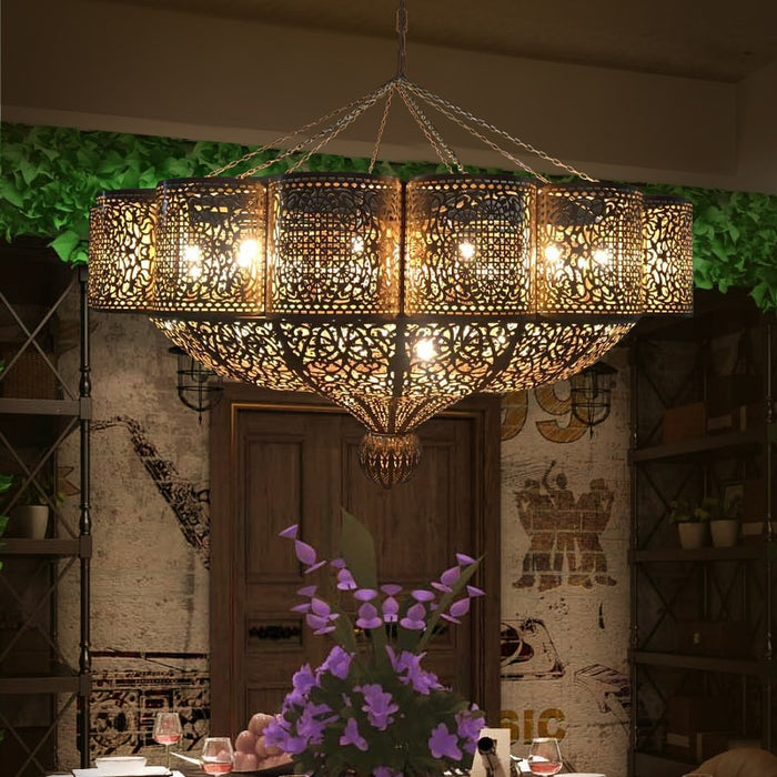 Moroccan Style Vintage Chandelier