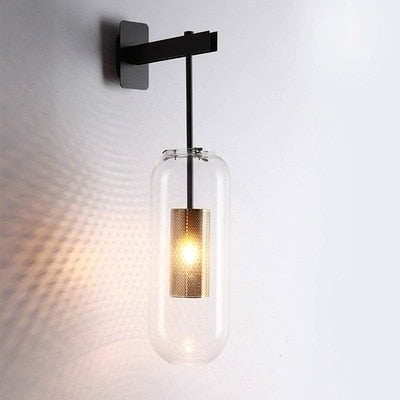Industrial Glass Wall Lamp - Best Goodie Shop