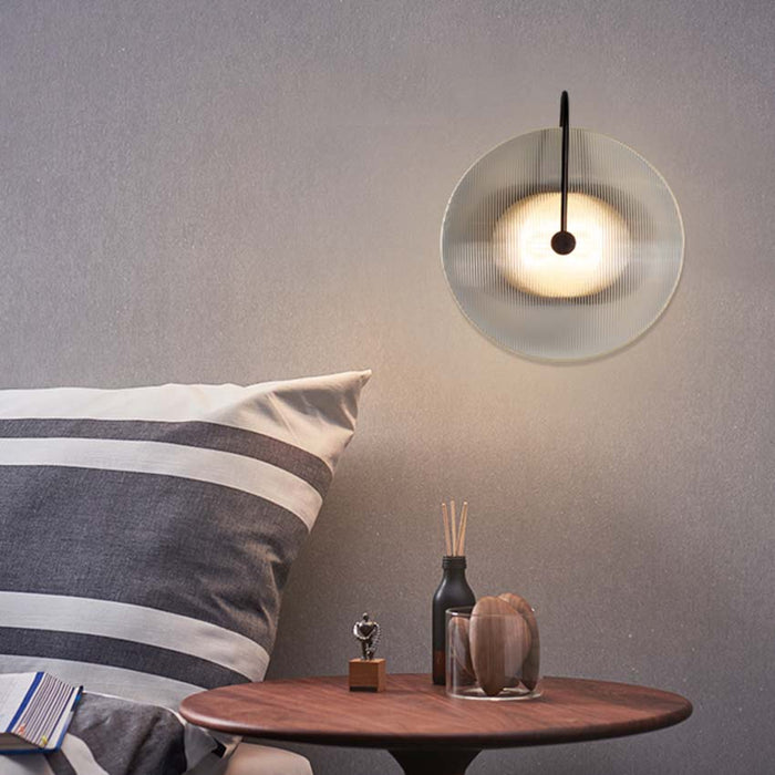 Clear Glass Round Wall Lamp - Best Goodie Shop