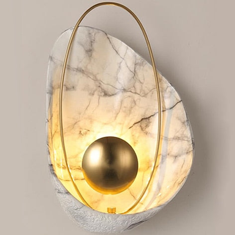 Minimalist Shell Shape Resin Copper Lamp - Best Goodie Shop