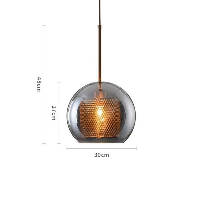 MILANA Smokey Glass Pendant Light