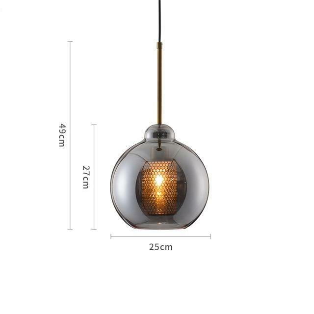 MILANA Smoky Glass Pendant Light