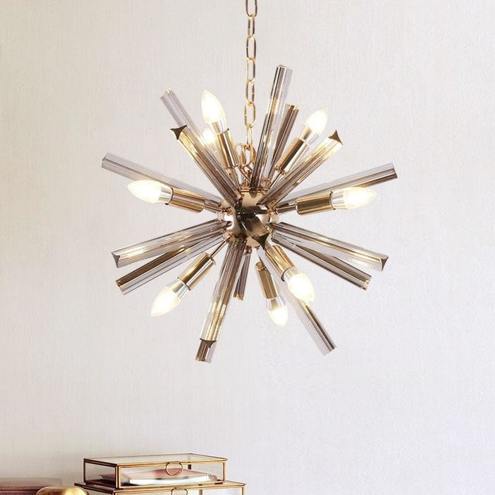 Sputnik Glass Chandelier