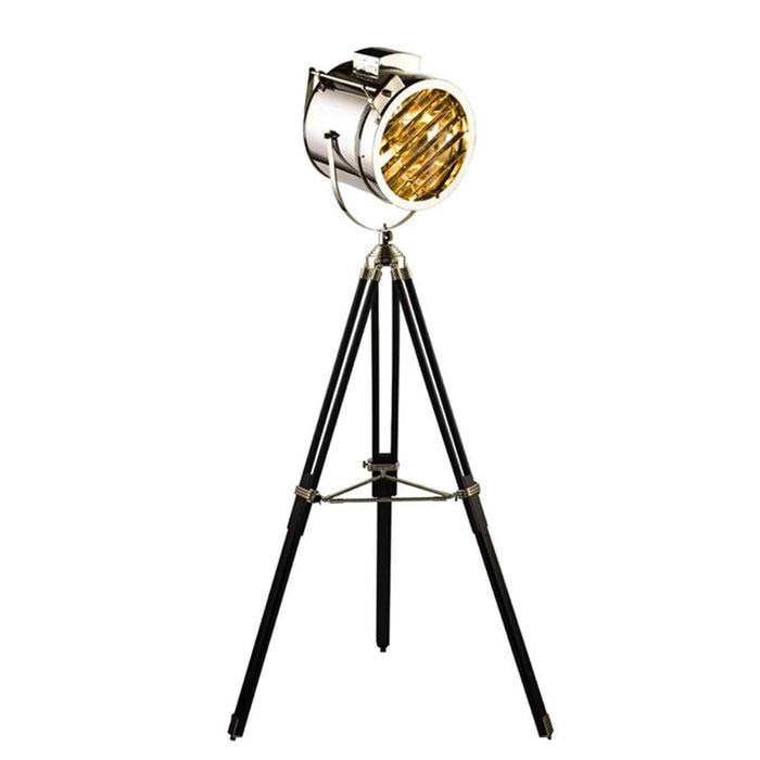 Tripod Base Gold Chrome Floor Light - Best Goodie Shop