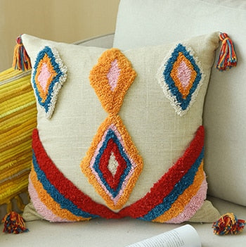 Boho Style Colorful Pillow Cover