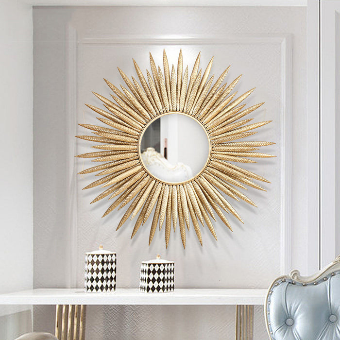 Wrought Iron Sun Mirror - Best Goodie Shop