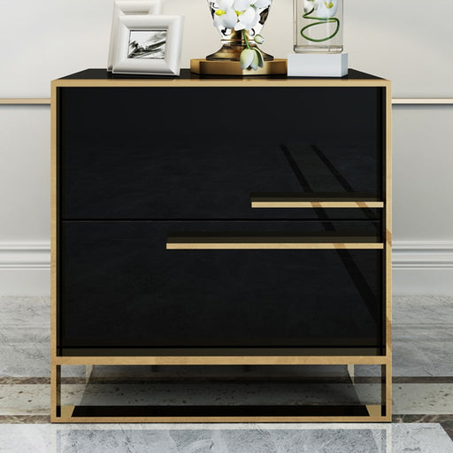 Iron Casting Golden Nightstand - Best Goodie Shop