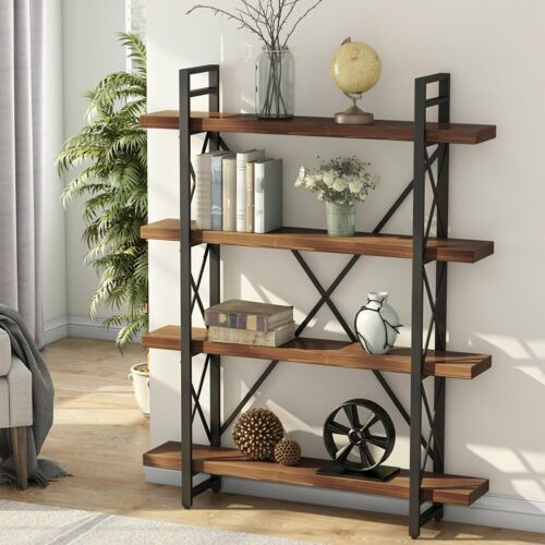 Industrial Style Wood Book Shelve - Best Goodie Shop