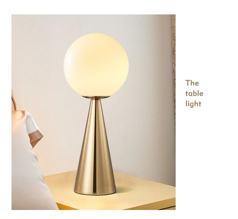 Cone Shaped Glass Art Table Lamp - Best Goodie Shop
